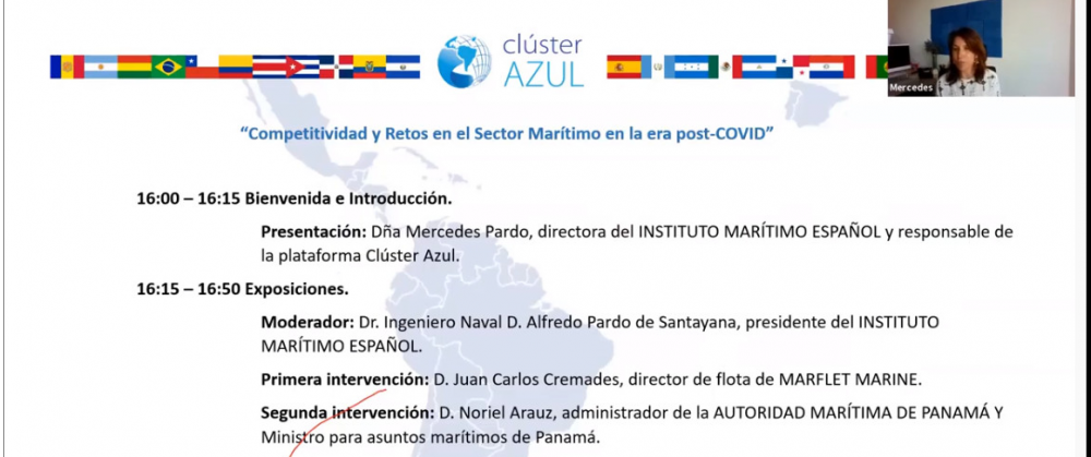 """I Ciclo de Conferencias Online bajo el título """"Competitividad y Retos en el Sector Marítimo en la era Post-COVID"""""""